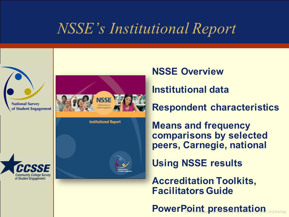 NSSE's Institutional Report