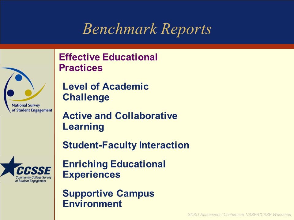 Benchmark Reports Effective Educational Practices