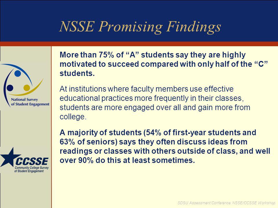 NSSE Promising Findings