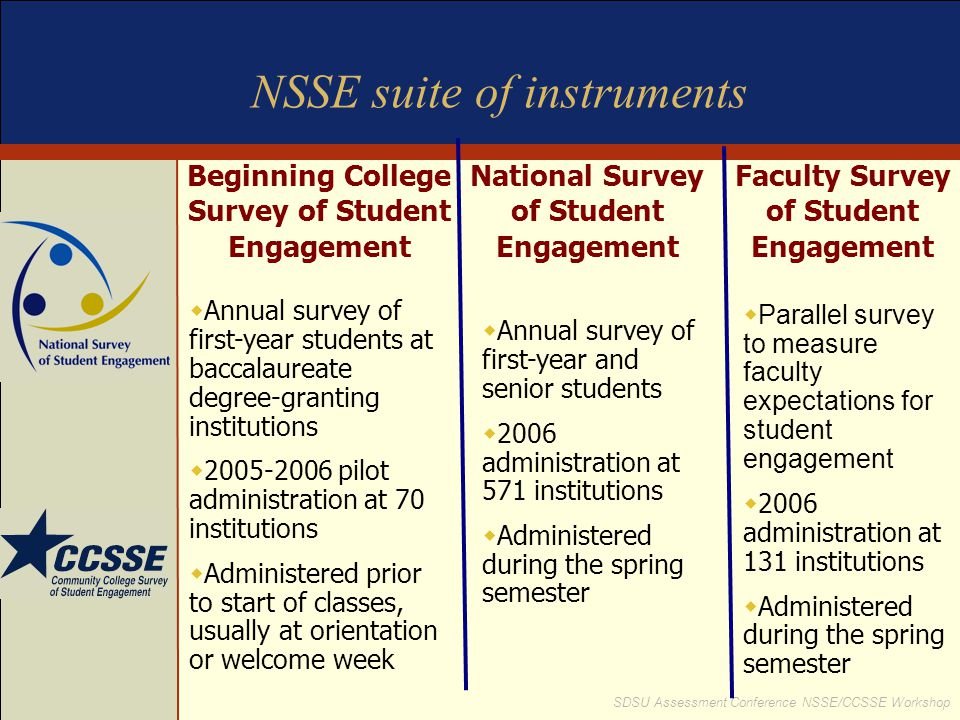 NSSE suite of instruments