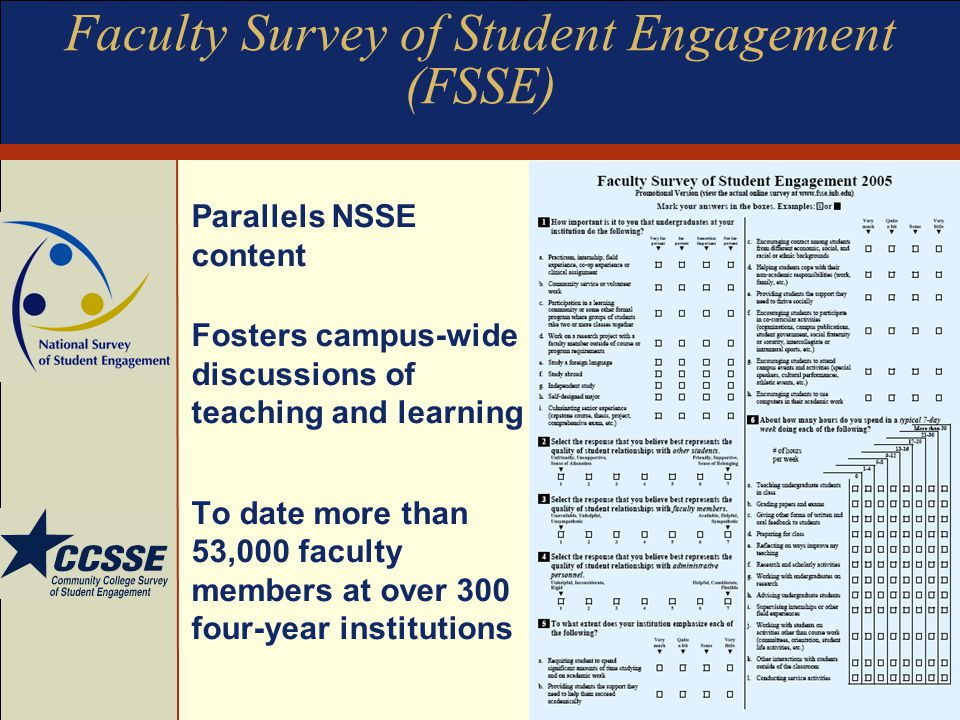 Faculty Survey of Student Engagement (FSSE)