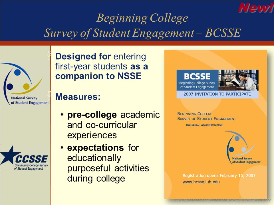 Beginning College Survey of Student Engagement – BCSSE