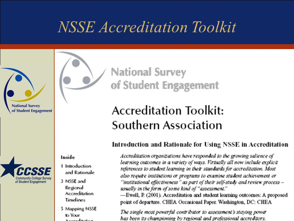 NSSE Accreditation Toolkit