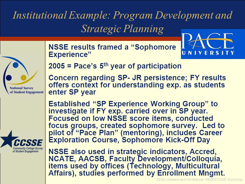 Institutional Example: Program Development and Strategic Planning