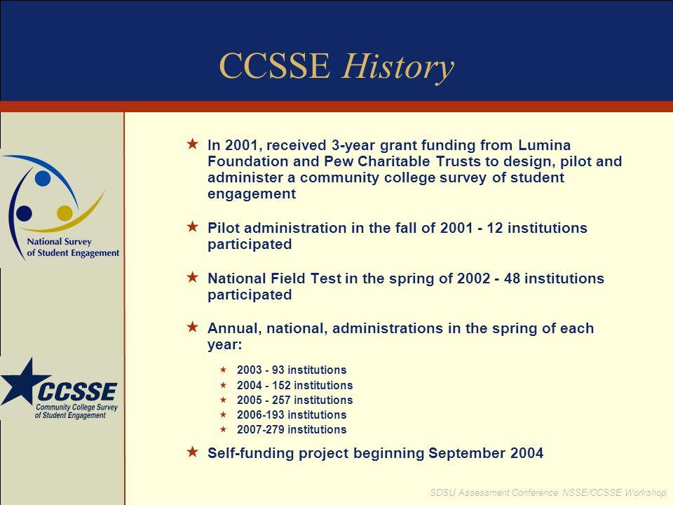 CCSSE History