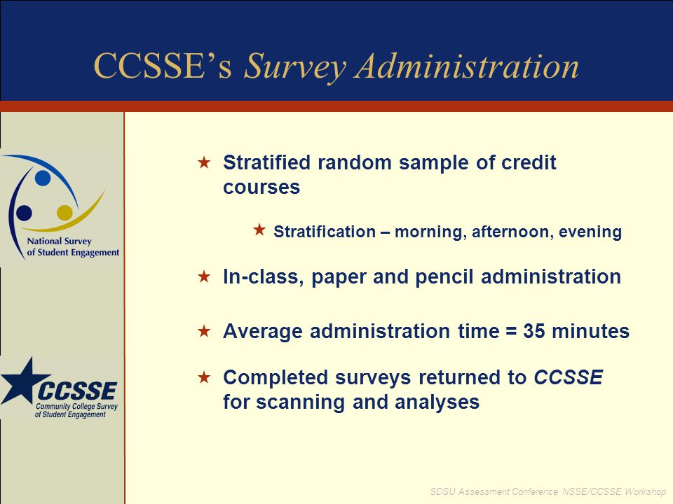 CCSSE's Survey Administration