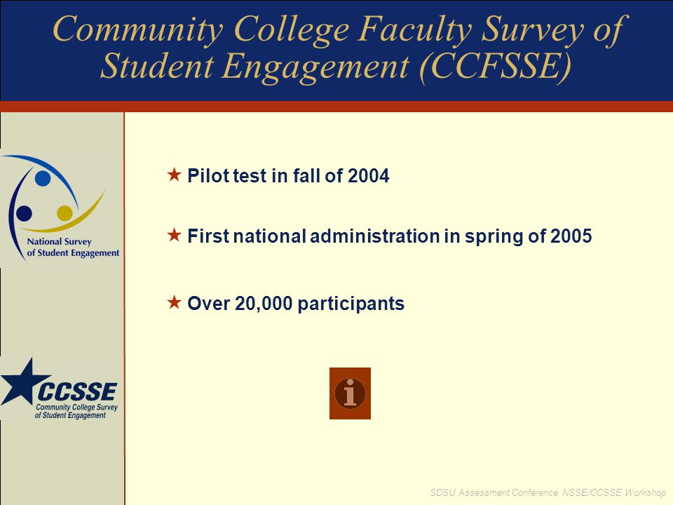 Community College Faculty Survey of Student Engagement (CCFSSE)
