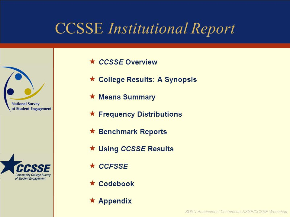 CCSSE Institutional Report