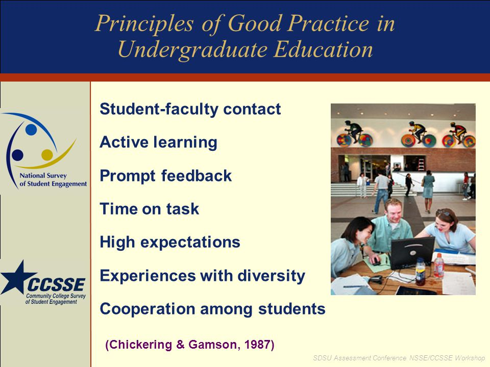 Principles of Good Practice in Undergraduate Education