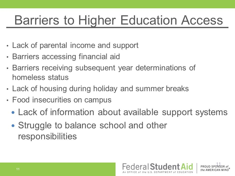 Barriers to Higher Education Access