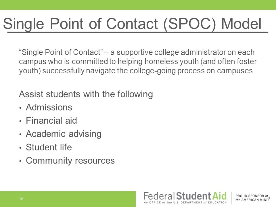 Single Point of Contact (SPOC) Model