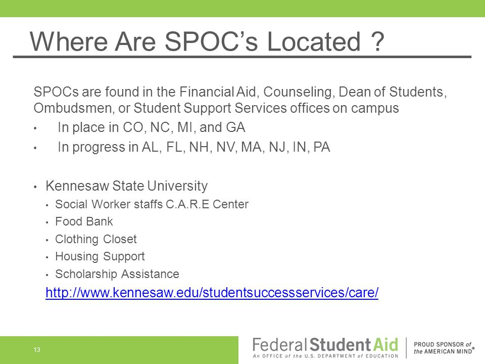 Where Are SPOC's Located