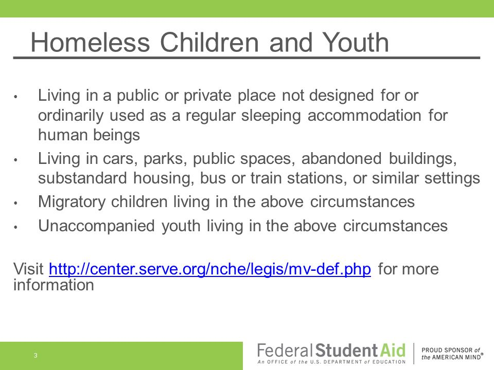 Homeless Children and Youth