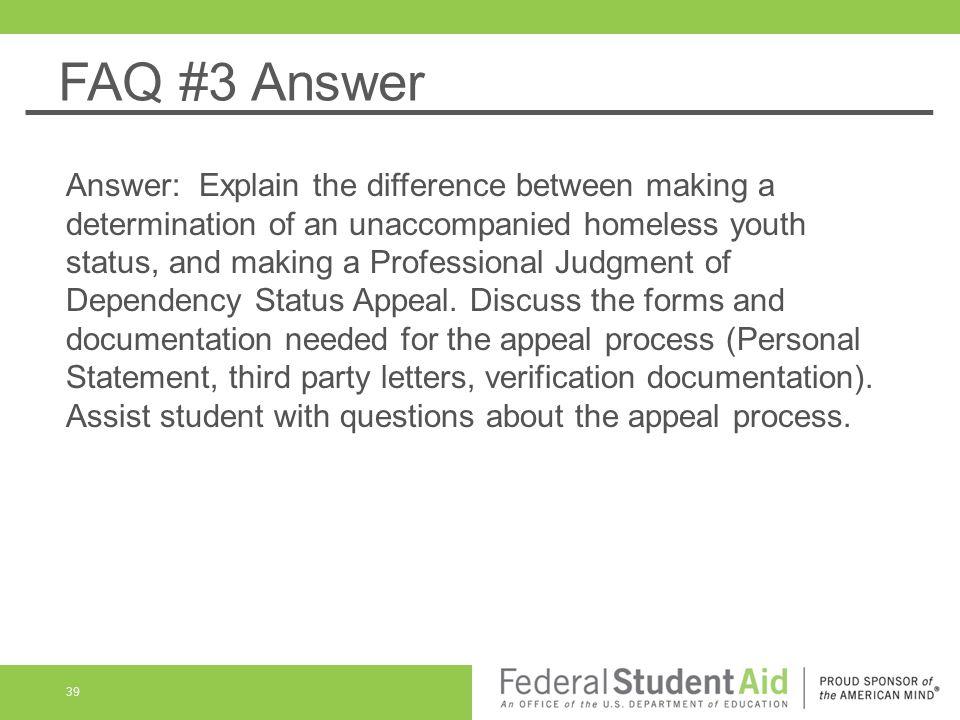 FAQ #3 Answer