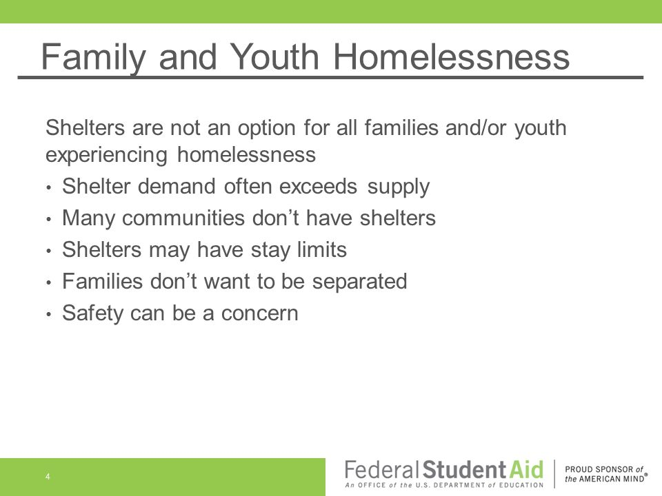 Family and Youth Homelessness