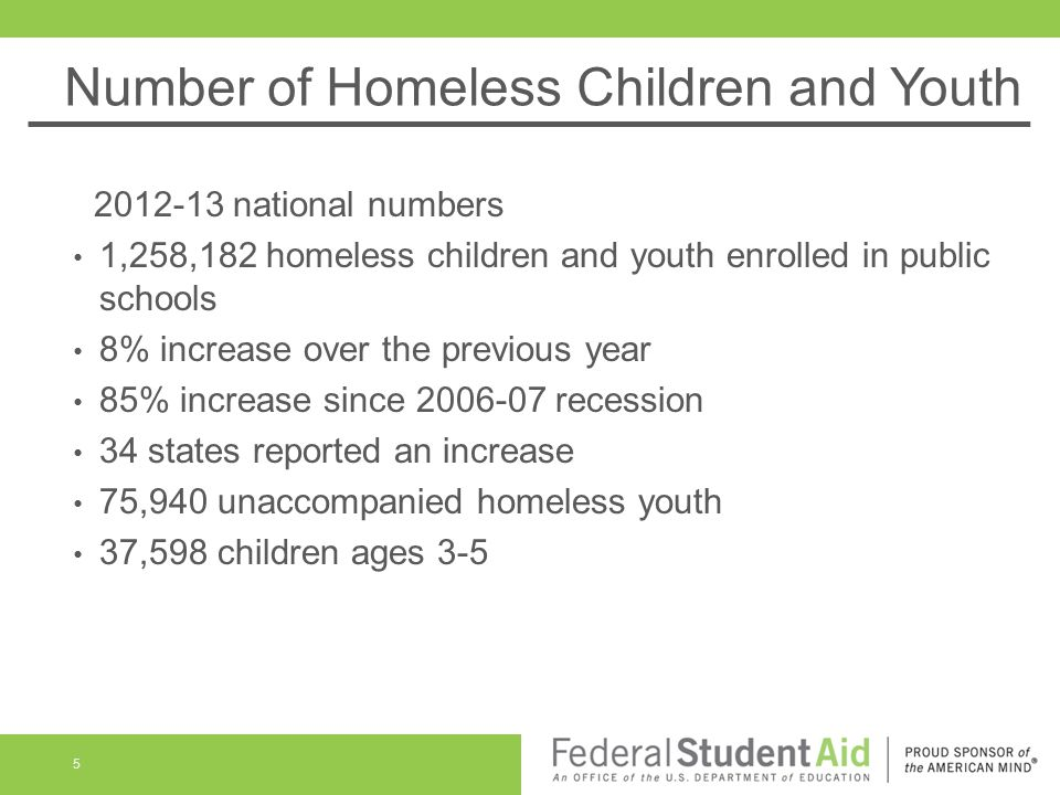 Number of Homeless Children and Youth