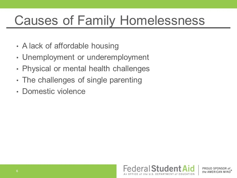 Causes of Family Homelessness