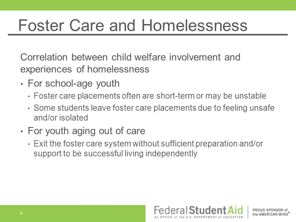 Foster Care and Homelessness