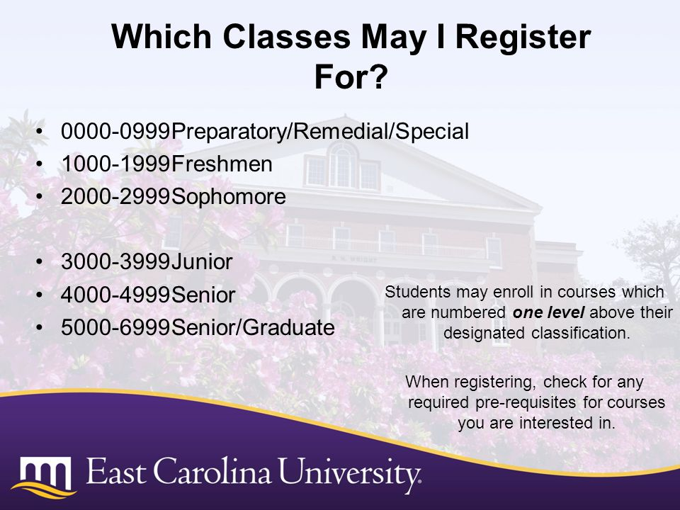 Which Classes May I Register For