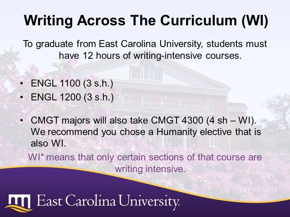 Writing Across The Curriculum (WI)