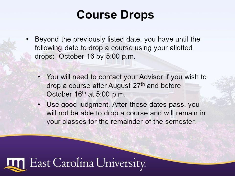 Course Drops