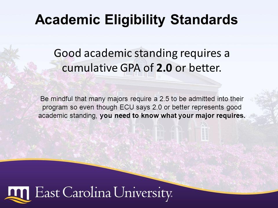 Academic Eligibility Standards