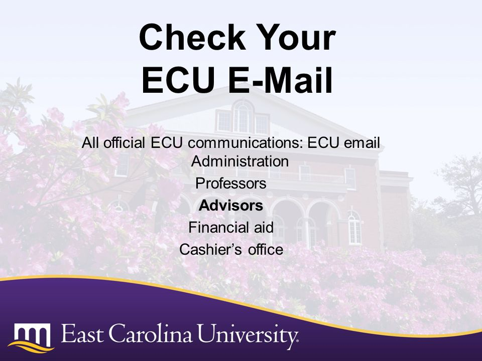 All official ECU communications: ECU email Administration