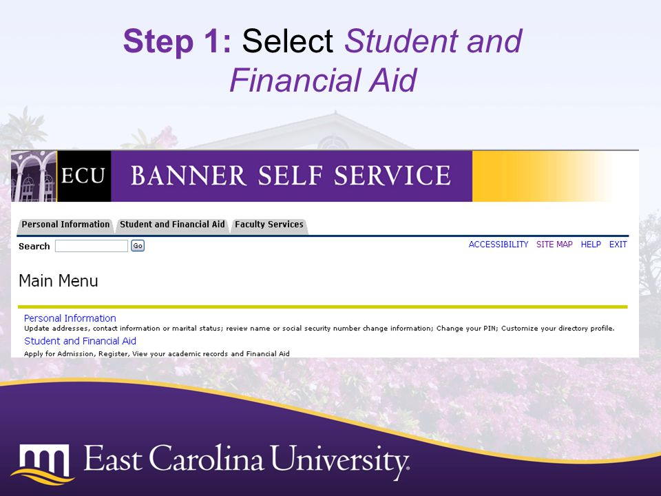 Step 1: Select Student and Financial Aid