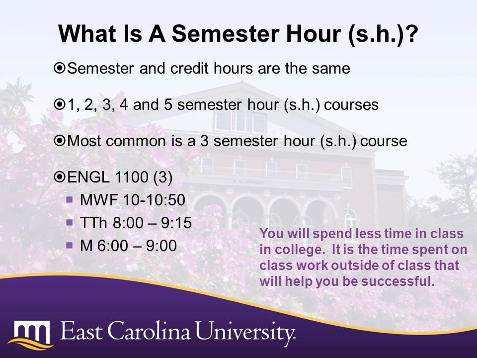 What Is A Semester Hour (s.h.)