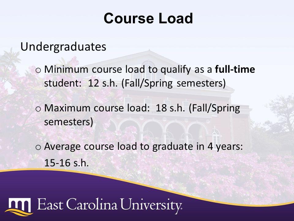 Course Load Undergraduates