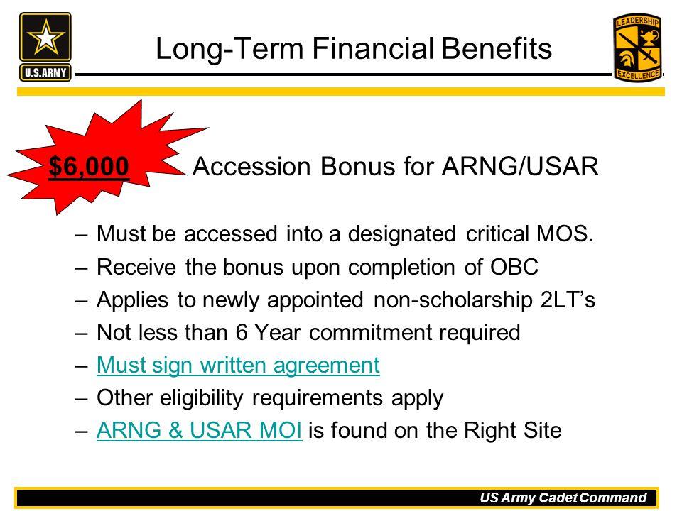 Long-Term Financial Benefits