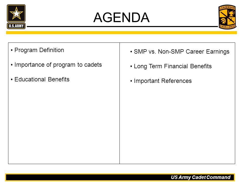 AGENDA Program Definition SMP vs. Non-SMP Career Earnings