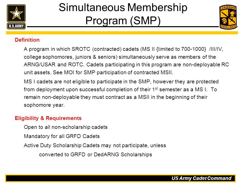 Simultaneous Membership Program (SMP)