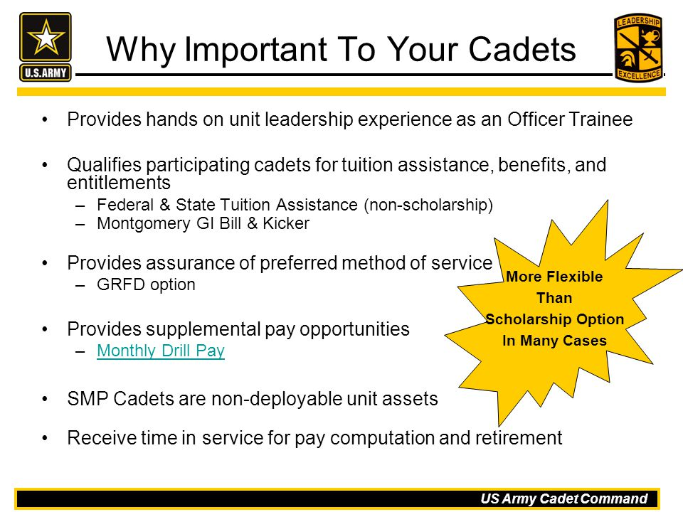 Why Important To Your Cadets
