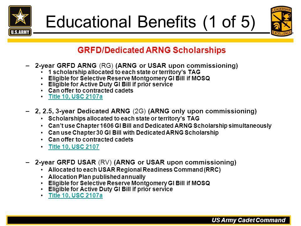 Educational Benefits (1 of 5)