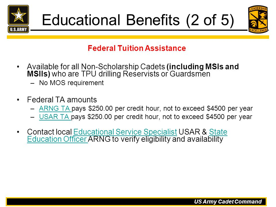 Educational Benefits (2 of 5)