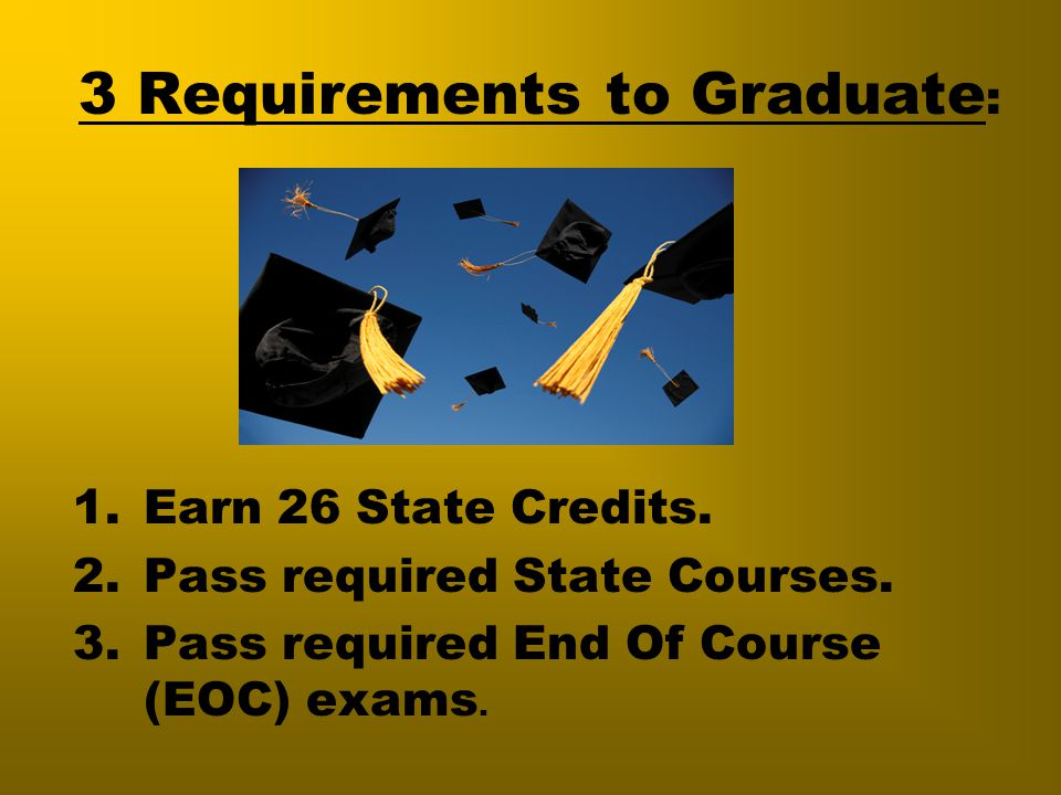 3 Requirements to Graduate: