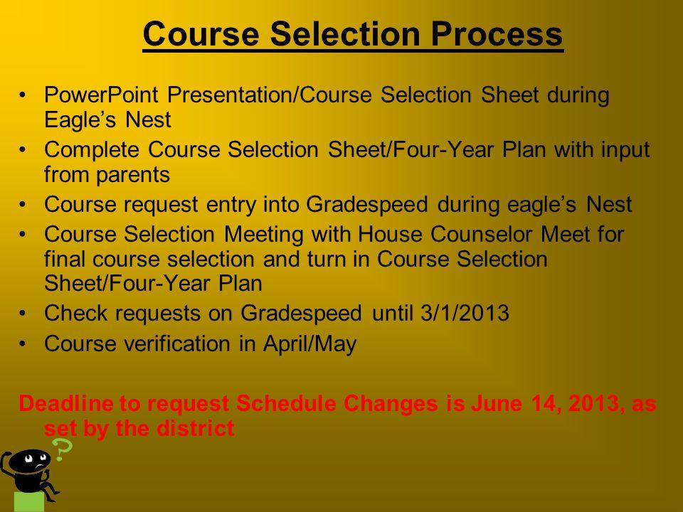 Course Selection Process