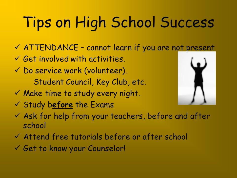 Tips on High School Success