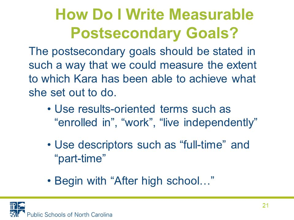 How Do I Write Measurable Postsecondary Goals