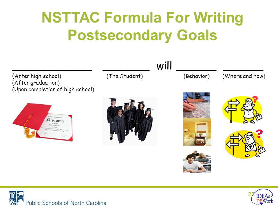 NSTTAC Formula For Writing Postsecondary Goals
