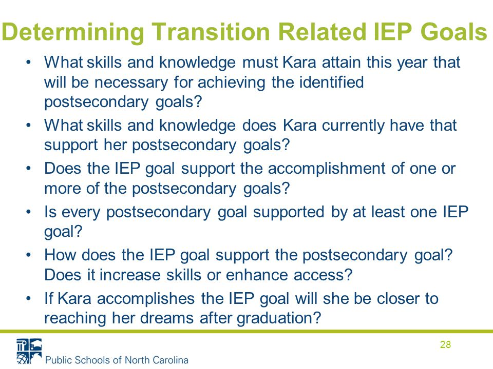 Determining Transition Related IEP Goals