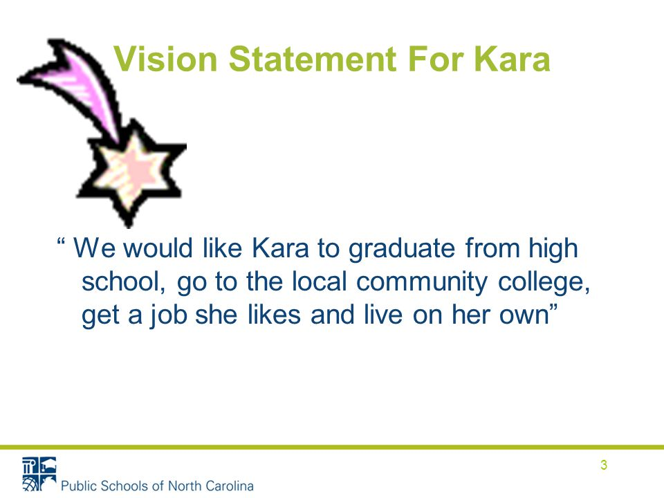 Vision Statement For Kara