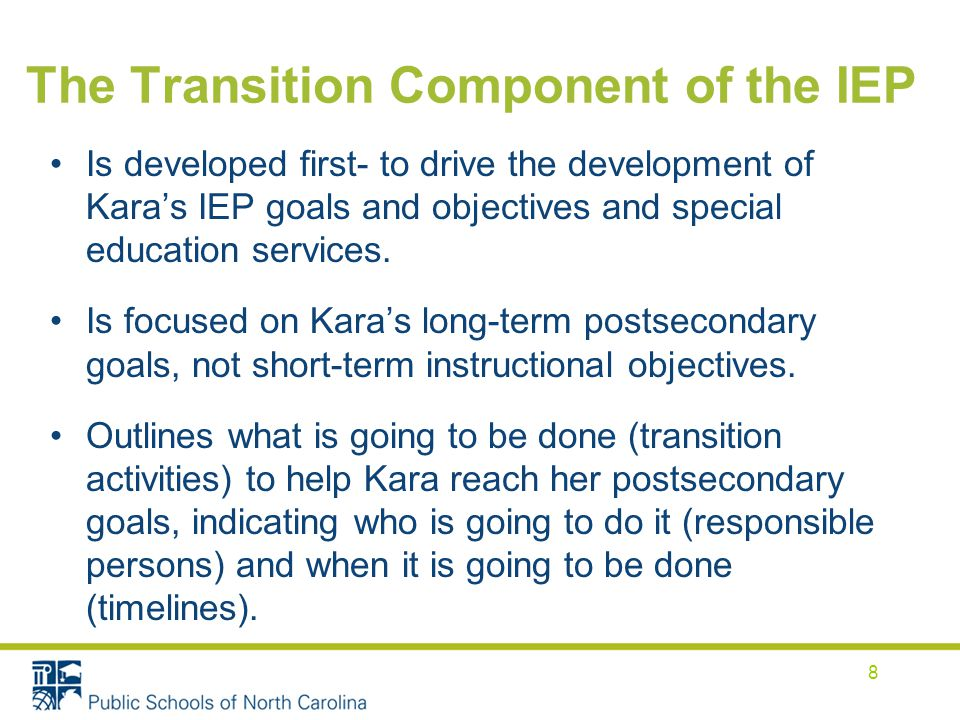 The Transition Component of the IEP
