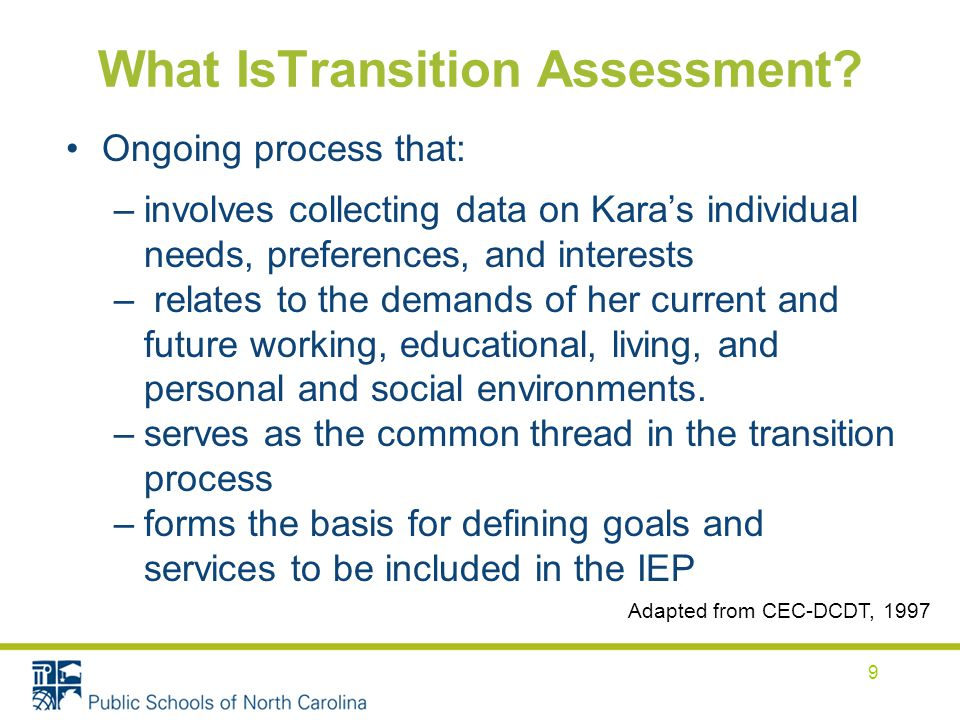What IsTransition Assessment