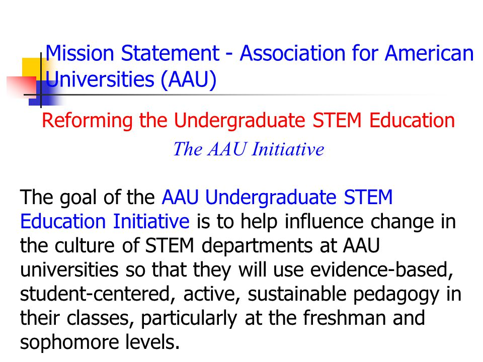 Mission Statement - Association for American Universities (AAU)