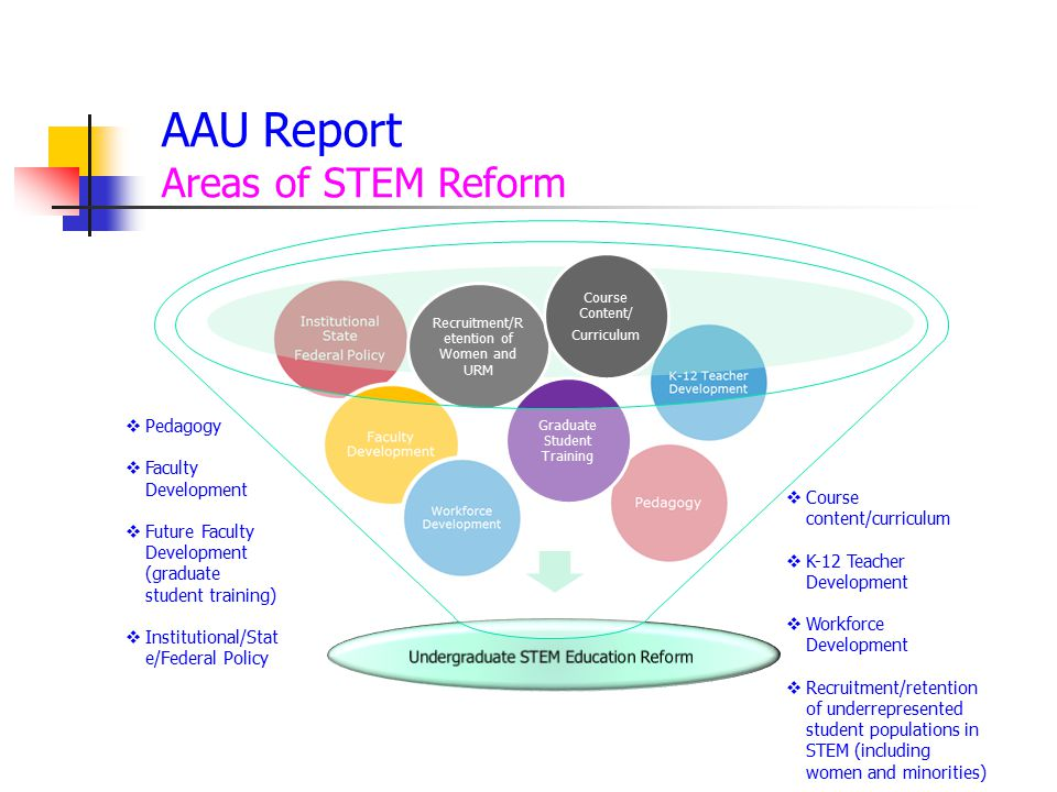 AAU Report Areas of STEM Reform