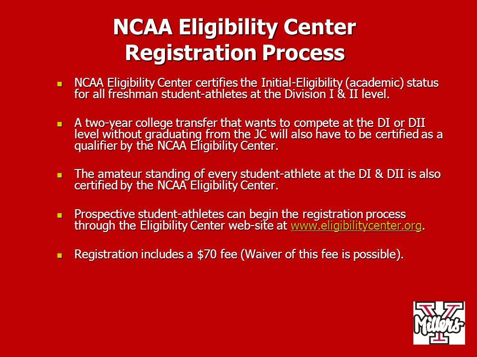 NCAA Eligibility Center Registration Process