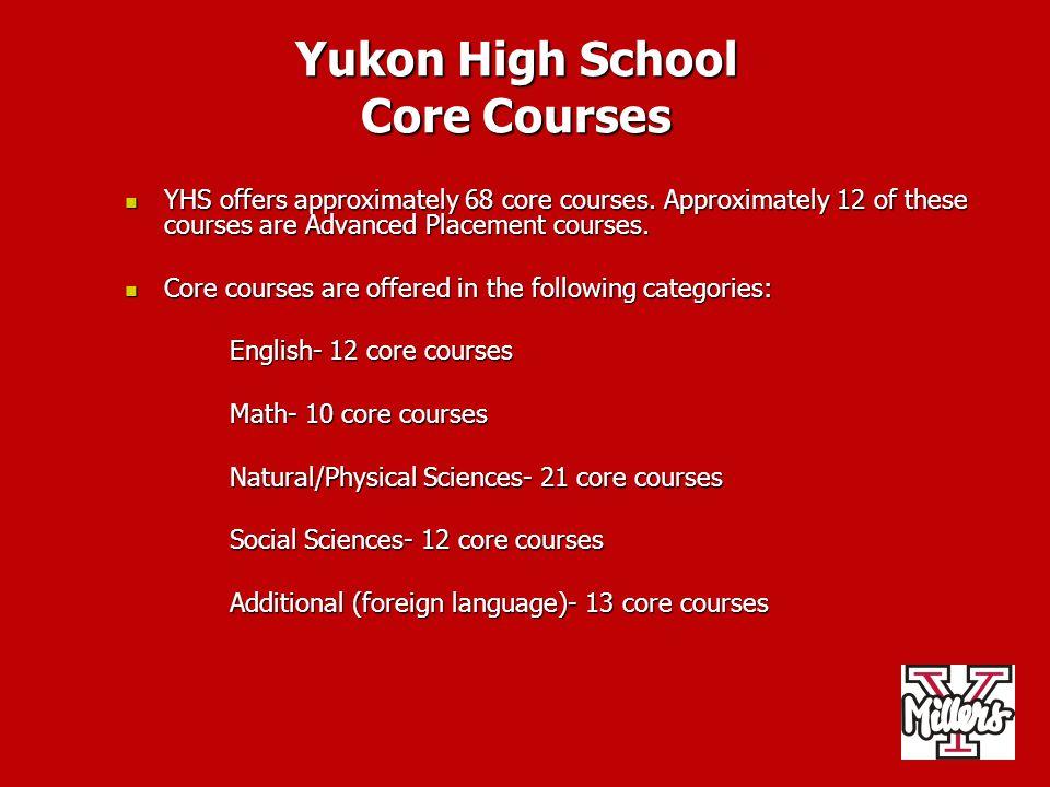 Yukon High School Core Courses