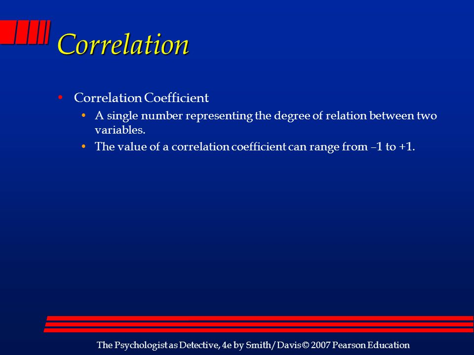 Correlation Correlation Coefficient